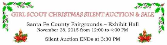 Girl Scout Silent Auction and sale